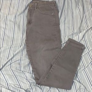 Gray American Eagle High Waisted Jeggings